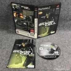 Videojuegos y Consolas: TOM CLANCYS SPLINTER CELL SONY PLAYSTATION 2 PS2. Lote 289938873