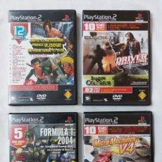 Videojuegos y Consolas: 4 DVD DEMOS PLAYSTATION 2. Lote 290716968