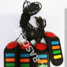 Videojuegos y Consolas: MANDOS BUZZ! DE 4 JUGADORES PARA PLAYSTATION 2 - EN PERFECTO ESTADO. Lote 293934653