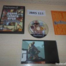 Videojuegos y Consolas: PS2 - GRAND THEFT AUTO - SAN ANDREAS , PAL ESPAÑOL , COMPLETO. Lote 295927993