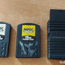 Videojuegos y Consolas: JOYTECH 16 MB MEMORY STATION ADAPTOR + 2 MAX MEMORY 16 Y 32 MB PARA PS2. Lote 295974288