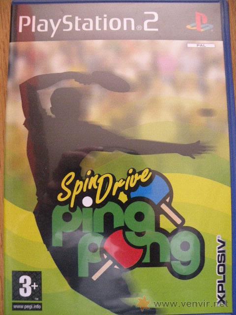 SPINDRIVE PING PONG, PLAYSTATION 2. (Juguetes - Videojuegos y Consolas - Sony - PS2)
