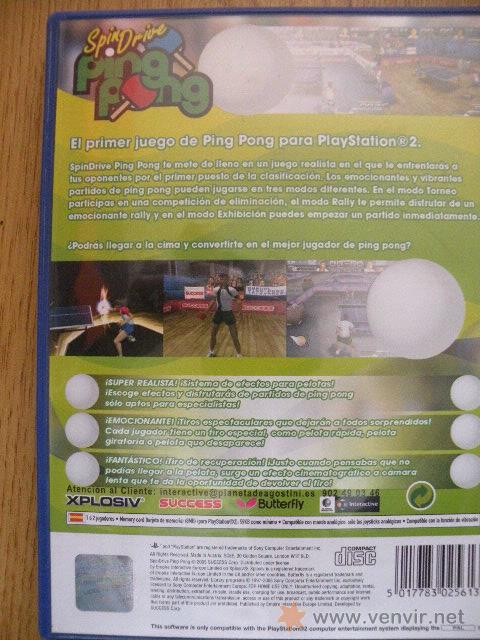 Videojuegos y Consolas: SpinDrive Ping Pong, Playstation 2. - Foto 2 - 26356868