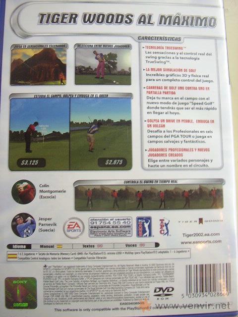 Videojuegos y Consolas: JUEGO ORIGINAL PARA PS2 TIGER WOODS PGA TOUR 2002.SEMINUEVO. - Foto 3 - 26831534