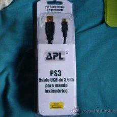 Videojuegos y Consolas: CABLE USB PARA MANDO INALAMBRICO PS3 . Lote 29444356
