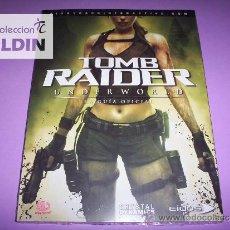 Videojuegos y Consolas: TOMB RAIDER UNDERWORLD GUÍA OFICIAL NUEVA PRECINTADA. Lote 26513617