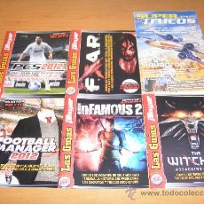 Videojuegos y Consolas: LOTE 6 GUIAS MARCA PLAYER SUPERJUEGOS WITCHER 2 INFAMOUS 2 F3AR ROGUE SCUADRON PES12 FMANAGER12. Lote 32575757