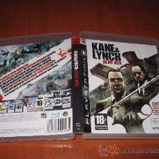 Videojuegos y Consolas: KANE & LYNCH DEAD MEN PARA PS3 PAL ESPAÑA COMPLETO. Lote 32915394