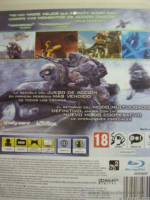 Videojuegos y Consolas: CALL OF DUTY MODERN WARFARE 2 / JUEGO ORIGINAL PS3 / - Foto 3 - 33495897