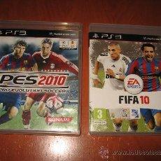 Videojuegos y Consolas: PES 2010 Y FIFA 2010 PS3 PAL ESPAÑA COMPLETOS. Lote 33801193