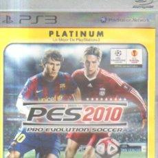 Videogiochi e Consoli: PRO EVOLUTION SOCCER 2010 PLAYSTATION 3 PS3 PLATINUM DVJ-002. Lote 34743358