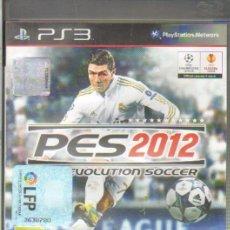 Videojuegos y Consolas: PRO EVOLUTION SOCCER 2012 PES 2012 PLAYSTATION 3 , ,CASTELLANO DVJ-003. Lote 34743407