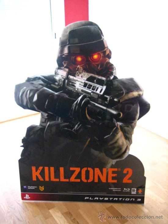 IMPRESIONANTE CARTEL PRESENTACION JUEGO KILLZONE 2 ...1,37 MT DE ALTURA (Juguetes - Videojuegos y Consolas - Sony - PS3)