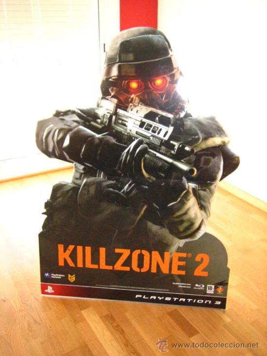 Videojuegos y Consolas: IMPRESIONANTE CARTEL PRESENTACION JUEGO KILLZONE 2 ...1,37 MT DE ALTURA - Foto 5 - 35202968