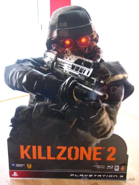 Videojuegos y Consolas: IMPRESIONANTE CARTEL PRESENTACION JUEGO KILLZONE 2 ...1,37 MT DE ALTURA - Foto 2 - 35202968