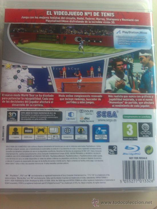Videojuegos y Consolas: JUEGO ORIGINAL PARA PS3 / VIRTUA TENNIS 4 / SEMINUEVO - Foto 2 - 35725166