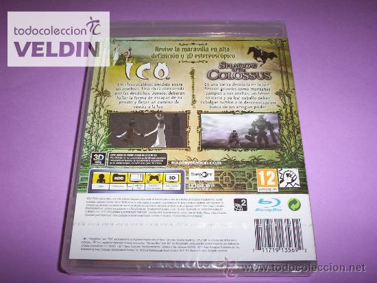 Videojuegos y Consolas: ICO & SHADOW OF THE COLOSSUS CLASSICS HD NUEVO PRECINTADO PAL ESPAÑA PLAYSTATION 3 PS3 - Foto 2 - 35930327