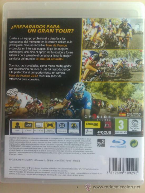Videojuegos y Consolas: LE TOUR DE FRANCE 2012 / JUEGO ORIGINAL PARA PS3 / - Foto 3 - 146971193