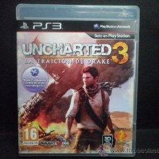 Videojuegos y Consolas: UNCHARTED 3 LA TRAICION DE DRAKE - PS3 - PLAYSTATION 3. Lote 36803628