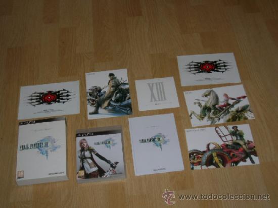 FINAL FANTASY XIII EDICION LIMITADA COLECCIONISTAS PLAYSTATION 3 PAL ESPAÑA CASTELLANO LIBRO EXTRAS (Juguetes - Videojuegos y Consolas - Sony - PS3)