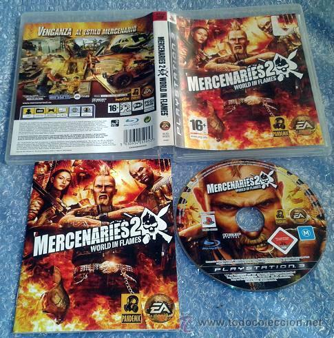 MERCENARIES 2 WORL IN FLAMES PLAYSTATION 3 PS 3 PAL ESPAÑA COMPLETO (Juguetes - Videojuegos y Consolas - Sony - PS3)
