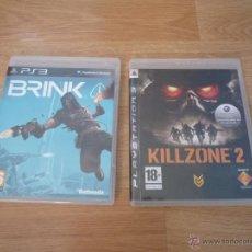 Videojuegos y Consolas: LOTE DE 2 JUEGOS PS3 - KILLZONE 2 Y BRINK. Lote 40424771