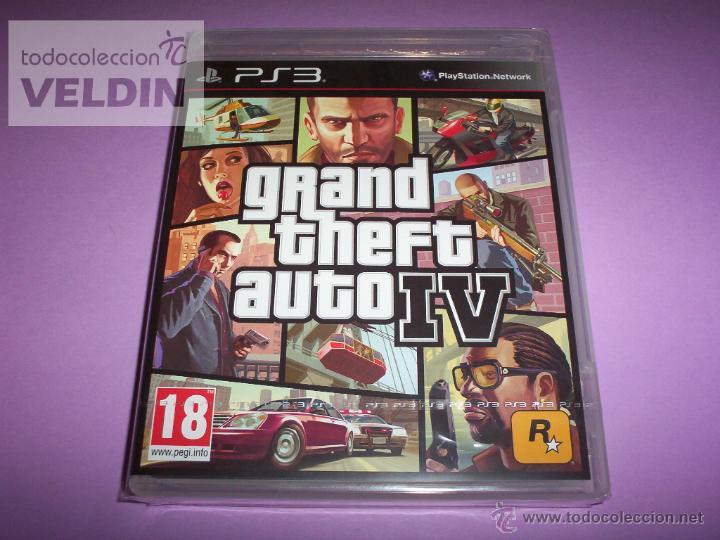 GRAND THEFT AUTO 4 NUEVO Y PRECINTADO PAL ESPAÑA PLAYSTATION 3 (Juguetes - Videojuegos y Consolas - Sony - PS3)