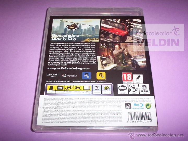 Videojuegos y Consolas: GRAND THEFT AUTO 4 NUEVO Y PRECINTADO PAL ESPAÑA PLAYSTATION 3 - Foto 2 - 107668415