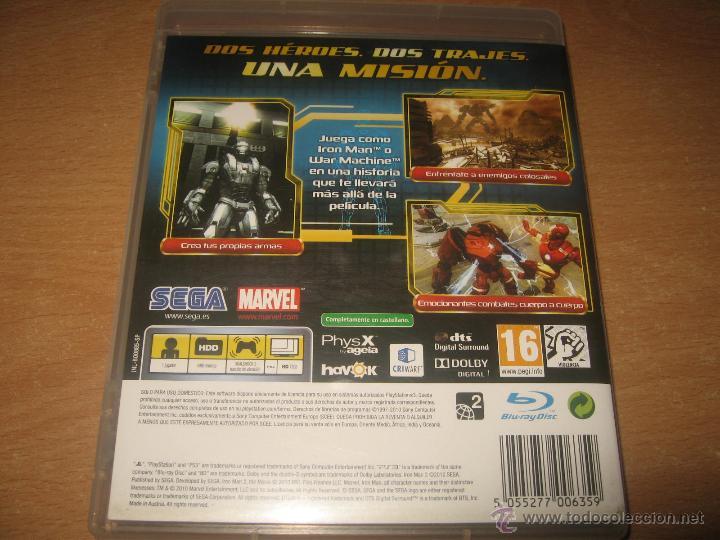 Videojuegos y Consolas: IRON MAN 2 EL VIDEOJUEGO PS3 PAL ESPAÑA COMPLETO - Foto 2 - 43979902