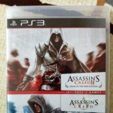 Videojuegos y Consolas: PS3. PACK ASSASSIN´S CREED Y ASSASSIN´S CREED II. IMPECABLE. VERSIÓN INGLESA PERO JUEGO EN ESPAÑOL.. Lote 47081452