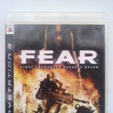 Videojuegos y Consolas: JUEGO PLAY 3, FEAR. Lote 47634092