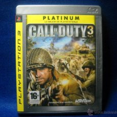 Videojuegos y Consolas: CALL OF DUTY 3 - PLAYSTATION 3 - PS3. Lote 48038477