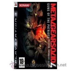 Videojuegos y Consolas: METAL GEAR SOLID 4 GUNS OF THE PATRIOTS PS3. Lote 52575137