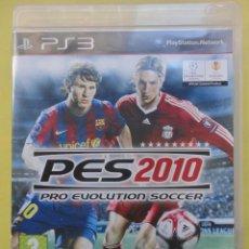 Videojuegos y Consolas: PRO EVOLUTION SOCCER. 2010. PLAYSTATION 3. JUEGO E INSTRUCCIONES. Lote 52627032