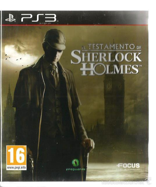 EL TESTAMENTO DE SHERLOCK HOLMES ( PS3 PLAYSTATION 3 ), NUEVO, EN ESPAÑOL, CON MANUAL (Juguetes - Videojuegos y Consolas - Sony - PS3)