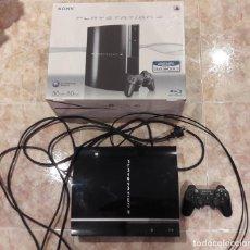 Videojuegos y Consolas: CONSOLA PLAYSTATION 3 FAT 80 GB LECTOR DE DISCOS ROTO CON CAJA Y MANDO DUAL SHOCK 3. Lote 65684262