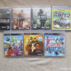 Videojuegos y Consolas: PACK 7 JUEGOS: MEDAL OF HONOR, CALL OF DUTY 2 Y 4, COLIN MCRAE DIRT 2, RESIDENT EVIL V, PLANET 51.... Lote 69531489