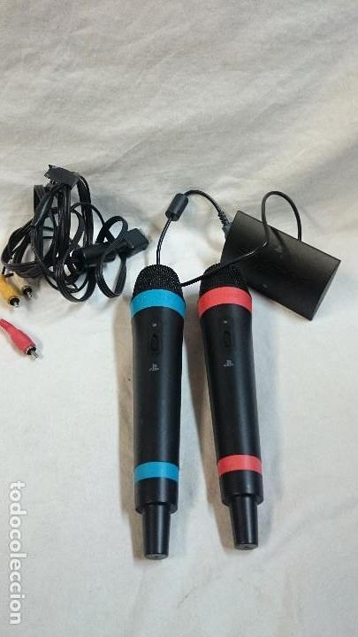 MICRÓFONOS Y ADAPTADOR USB PARA PS3, SINGSTAR (Juguetes - Videojuegos y Consolas - Sony - PS3)