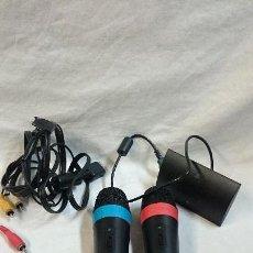 Videojuegos y Consolas: MICRÓFONOS Y ADAPTADOR USB PARA PS3, SINGSTAR. Lote 71504523