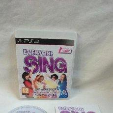 Videojuegos y Consolas: EVERYONE SING PARA PS3. Lote 71504735