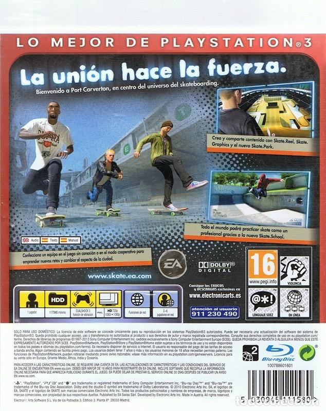 Videojuegos y Consolas: ESSENTIALS SKATE 3 PLAYSTATION 3 - Foto 2 - 74840147