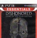 Videojuegos y Consolas: ESSENTIALS DISHONORED PLAYSTATION 3. Lote 74842119