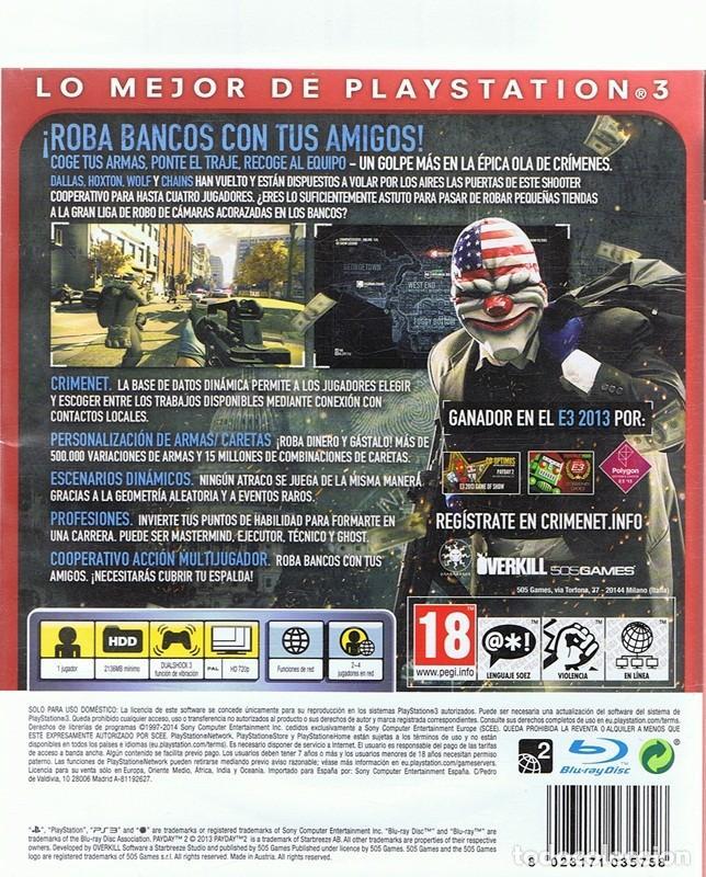 Videojuegos y Consolas: ESSENTIALS PAYDAY 2 PLAYSTATION 3 - Foto 2 - 74842427
