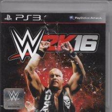 Videojuegos y Consolas: VIDEOJUEGO JUEGO SONY PS3 PLAYSTATION 3 - W2K16 - WRESTLING - WWE. Lote 76387683