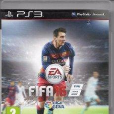 Videojuegos y Consolas: VIDEOJUEGO JUEGO SONY PS3 PLAYSTATION 3 - FIFA 16 - FIFA16 - LEO MESSI. Lote 76391619