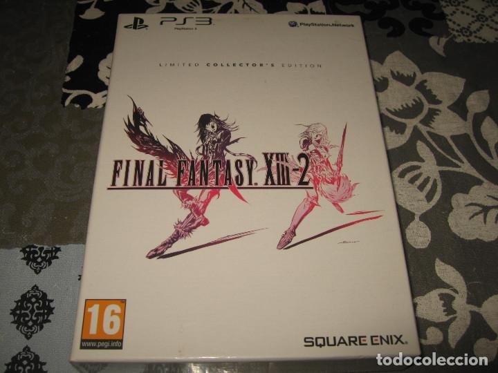 FINAL FANTASY XIII 2 LIMITED EDITION PS3 PAL ESPAÑA BANDA SONORA LIBRO ARTE POSTALES (Juguetes - Videojuegos y Consolas - Sony - PS3)