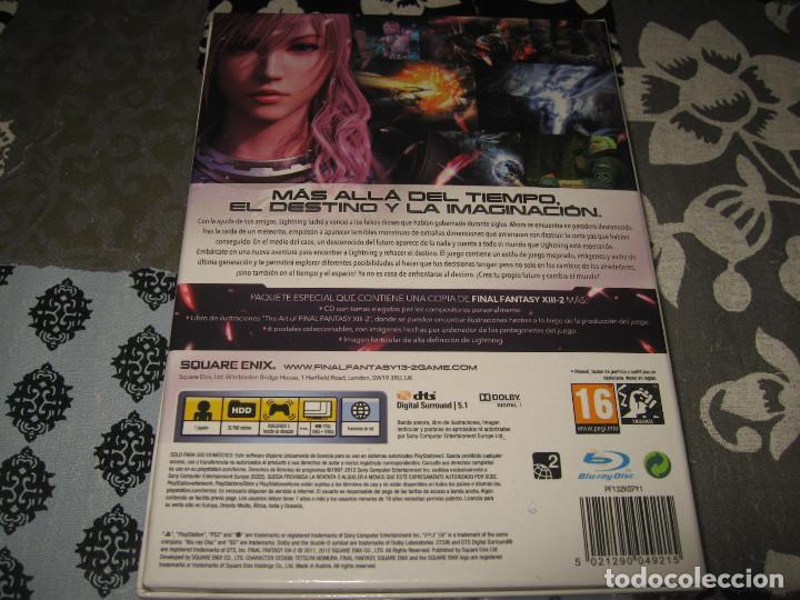 Videojuegos y Consolas: FINAL FANTASY XIII 2 LIMITED EDITION PS3 PAL ESPAÑA BANDA SONORA LIBRO ARTE POSTALES - Foto 2 - 80267713
