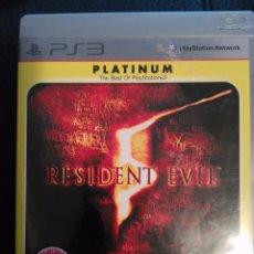 Videojuegos y Consolas: JUEGO RESIDENT EVIL 5 SONY PLAYSTATION 3 PS3 CASTELLANO.BUEN ESTADO . Lote 81049472