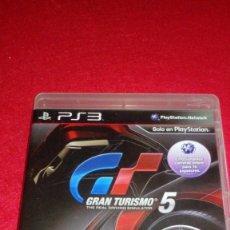 Videojuegos y Consolas: GRAN TURISMO 5 PS3. Lote 81980752