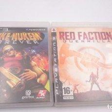 Videojuegos y Consolas: PACK 2:DUKE NUKEM FOREVER Y RED FACTION GUERRILLA PLAYSTATION 3 PS3 PAL ESPAÑA ENVIOS COMBINADOS. Lote 82297524